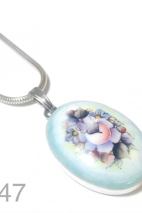 Miniature - flowers - silver 925 pendant for women - exclusive !!!