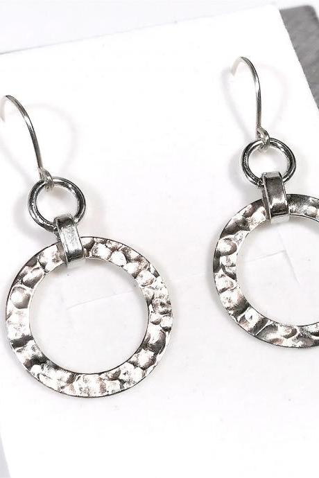 Hoop earrings - silver 925