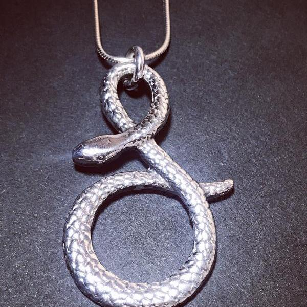 Snake - silver 925 pendant for women