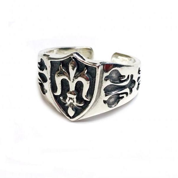 Flur de Lis - silver 925 ring for men