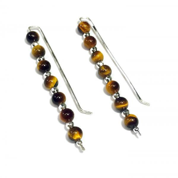 Tiger eye - silver 925 earrings - exclusive - handmade
